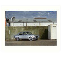 Silver Mazda RX2 Art Print