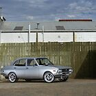 Silver Mazda RX2 by John Jovic