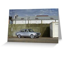 Silver Mazda RX2 Greeting Card