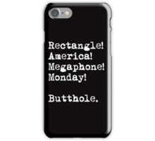 All The Words Ron Swanson Knows. iPhone Case/Skin