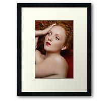 Red 2 - Ivory Flame Framed Print