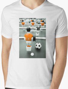 Table Football 02B - Defender | Orange Mens V-Neck T-Shirt