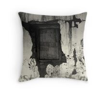 Opens at eight Throw Pillow