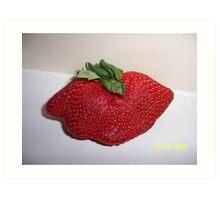 Mutant Strawberry Art Print