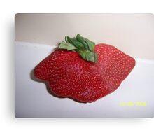 Mutant Strawberry Metal Print