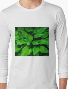 Green Foliage Long Sleeve T-Shirt