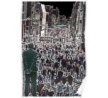 Faces in the Crowd - Buchanan St Glasgow Scotland Europe Poster