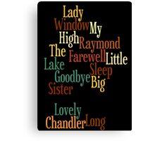 RAYMOND CHANDLER - PHILIP MARLOWE Canvas Print