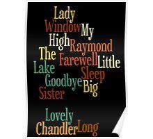 RAYMOND CHANDLER - PHILIP MARLOWE Poster