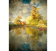Autumn in the Pond Photographic Print