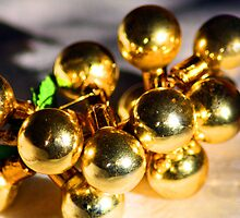 Gold Baubles by Lynn Ede