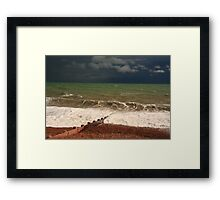 Colour of storm and sea Framed Print