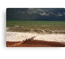 Colour of storm and sea Canvas Print