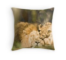 Father and Child.... in the animal Kingdom of London Zoo Throw Pillow