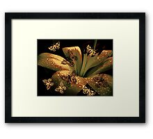 Lily and Butterflies Framed Print