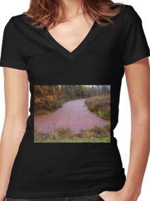 Red Bayou Women's Fitted V-Neck T-Shirt