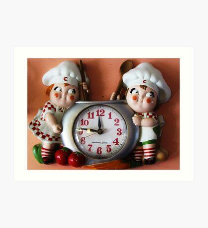 Campbell's Soup Kids Clock Art Print