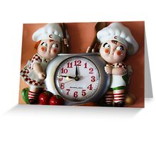 Campbell's Soup Kids Clock Greeting Card