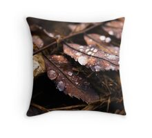 Drops And Leaves Throw Pillow