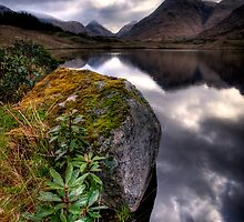 Glen Etive looking north by David Mould
