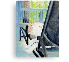 Zoe the Great Dane Pup #1 Canvas Print