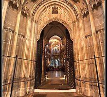 Canterbury Cathedral doorway by Shaun Whiteman