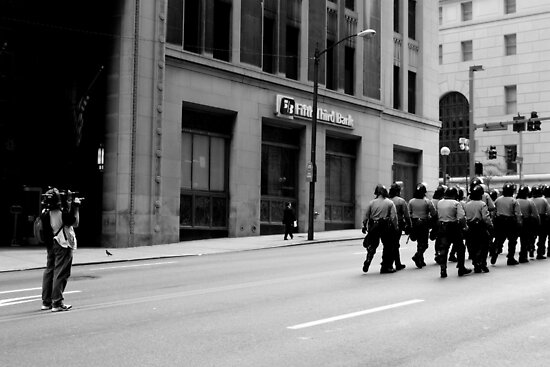 Filming a Horde of Police Officers - Pittsburgh G20 by carsynvolk