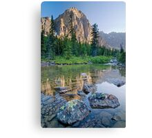 Taylor Lake Evening Reflection Canvas Print