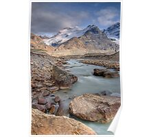 Mount Athabasca, Alberta, Canada. Poster