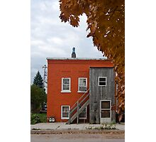 Funny looking red house Photographic Print