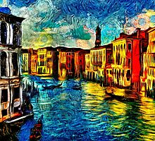 One Day In Venice Fine Art Print by stockfineart