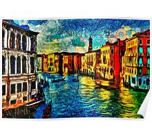 One Day In Venice Fine Art Print Poster