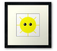 Cute Sun Framed Print