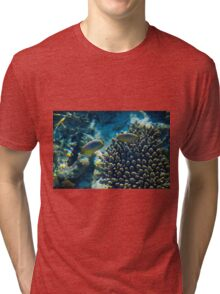 Maldivian coral reef Tri-blend T-Shirt