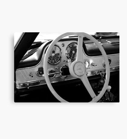 Mercedes cockpit detail, monochrome Canvas Print