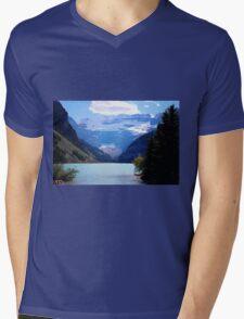 Lake Louise Mens V-Neck T-Shirt