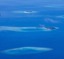 North Ari Atolls in Maldives - aerial view over Eden on Earth by Atanas Bozhikov NASKO