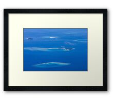 North Ari Atolls in Maldives - aerial view over Eden on Earth Framed Print