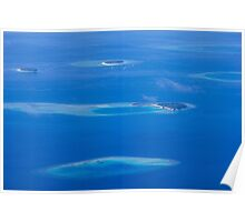 North Ari Atolls in Maldives - aerial view over Eden on Earth Poster
