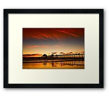 Red sky at sunset Framed Print
