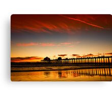 Red sky at sunset Canvas Print