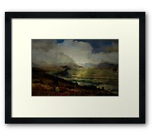 The Glen: The Evening, the Castle & the Redstart. Framed Print