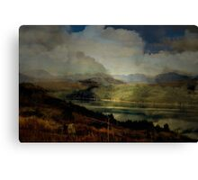 The Glen: The Evening, the Castle & the Redstart. Canvas Print