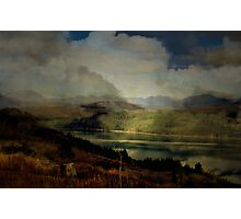 The Glen: The Evening, the Castle & the Redstart. Photographic Print