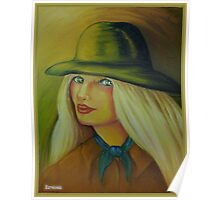 Cow girl portrait Poster