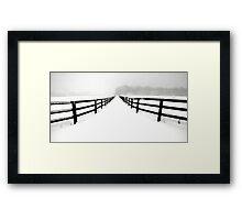 Fenced White Out Framed Print