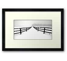 Fenced White Out Framed Print
