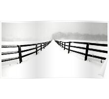 Fenced White Out Poster