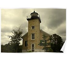 lighthouse in copper harbor, michigan Poster