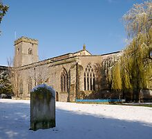 Snow Holy Trinity Church Much Wenlock by Barry Culling